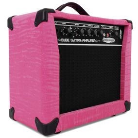 Caixa P/ Guitarra Amplificada Sound Maker Cube Rosa Som G15