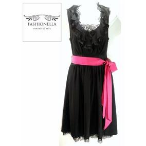 Vestido Seda White H Black M -fashionella - M(10) T9y1 T9y0