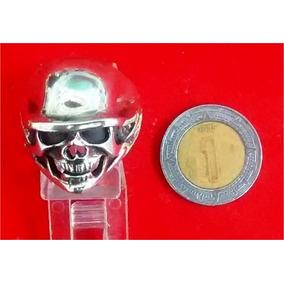 Anillo De Cráneo De Calavera En Plata .925 Plata Solida...