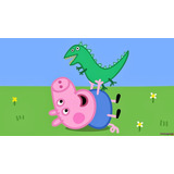 Painel Decorativo Infantil Lona Banner George Peppa Pig
