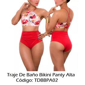 Traje De Baño Bikini Panty Alta