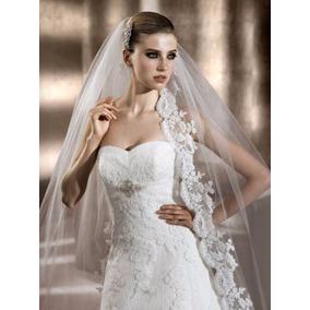 Vestido De Noiva Pronovias Com Mantilha - Modelo Berta Nº 44