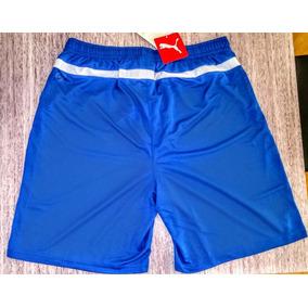 Calção Short Puma Original Mas Cores Vermelho E Azul