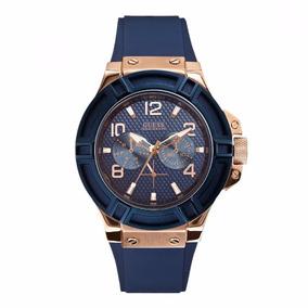 Reloj Guess Rigor W0247g3 Azul Para Caballero 100% Original*