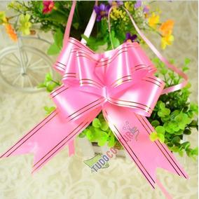 Laço Magico Facil Gravata Rosa Presente 100un. 49cm X 3cm