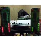 Vu Meter 64 Leds Estéreo 2x32 Matrix Abaixou