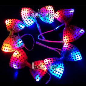 Moño Luminoso Led Corbata Multicolor Fiesta Collar Neon