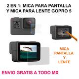 Kit Mica Pantalla Lente Cristal Templado Gopro 5 Y 6 Envgrat