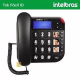 Telefone Fixo De Mesa Com Bina Intelbras Tok Fácil Id Visor.