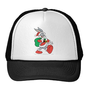 Gorra Trucker Camionero Santa De Bugs Bunny Que Camina Fe