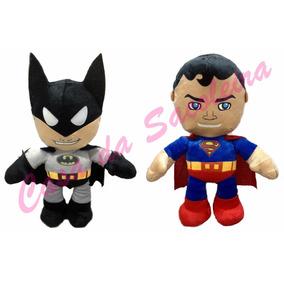 Batman E Super Homem Em Pelúcia Antialérgica