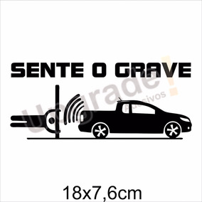 Adesivo Carro Rebaixado Sente O Grave Som Automotivo Alto