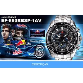 Relógio Casio Edifice Red Bull F1-ef -550 Rbsp Completo