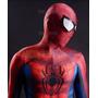 Fantasia Cosplay Adulto Homem Aranha 3d Completa Linda