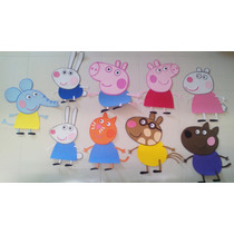 Peppa Pig Fiesta Fomi George Pig Foami Figuras Decoración