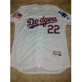 Jersey Beisbol Dodgers Angeles Clayton Kershaw Mediana #22