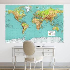 Vinilos Decorativos - Mapamundi - Mapas - Mundo - Murales