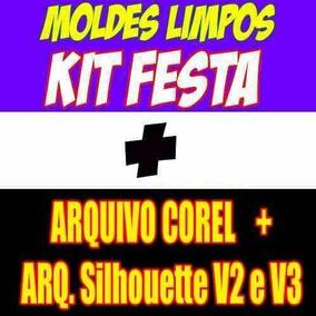 Moldes Limpos Kit Festa Digital Silhouette Envio 10 Minutos!