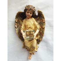 Angel De Salud Con Vaso Cristal