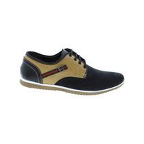 Zapato Bonito Para Hombre Muy Comodo Nobuck Negro Miel Marca