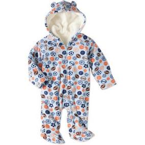 Mameluco Americano Pijama Polar Afelpado Talla 0/3 Meses