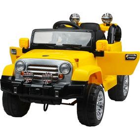 Jipe Elétrico Trilha Amarelo Com Controle Remoto 12v