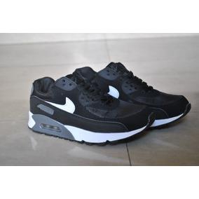 Kp3 Zapatos Nike Air Max 90 Negro Blanco Para Niños