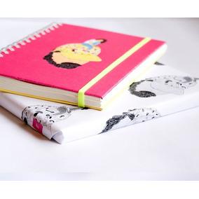 Cuaderno A5 (15x21cm) Rosa Y Amarillo- Tienda Puro Diseño