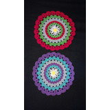 Carpeta O Individual Tejido A Crochet