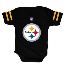 Disfraces Para Bebes - Pañalero Steelers Negro Personalizado