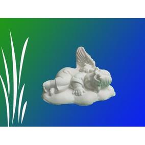 Angeles Acostados En Nube C/u Placa De Yeso Para Pintar