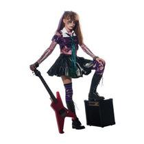 Disfraz Para Niña Girl Zombie Punk Rocker #2 Costume, Mediu
