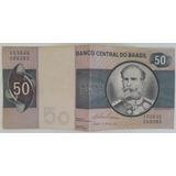 Dinheiro Cédula Antiga De 50 Cruzeiros Deodoro Da Fonseca