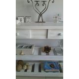Mesa De Arrime Rustica Moderna Patinada Blanca Decapada Vint
