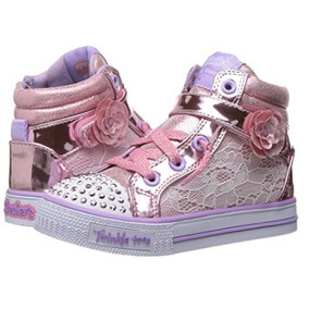 Skechers Twinkle Toes Con Luces Nro 24 Importados Púrpura