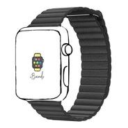 Pulseira Couro Loop Magnético Ibands Para Apple Watch