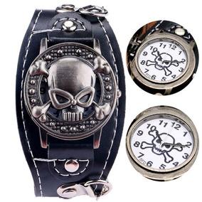 Reloj Pulsera Craneo Calavera Metal Skull Rocker Choppers