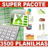 3500 Planilhas Excel Tabelas Editáveis Promoção Envio Agora
