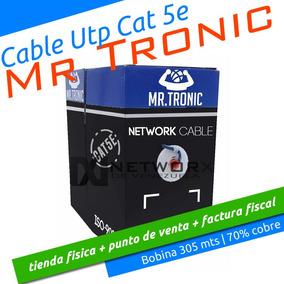 Cable Utp Cat 5e Mr Tronic 305mts Rj45 Cctv Testeado