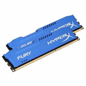 Memória Kingston 16gb 1600mhz Hyperx Fury (2x 8gb) Ddr3 Azul
