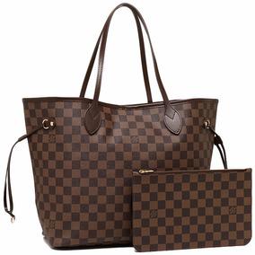 Bolsa Louis Vuitton Neverfull Mm Canvas Damier Chique.