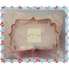 Cortante Cartel Para Tortas Galletitas Cupcakes Porcelana