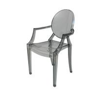 Cadeira Louis Ghost Sofia Fumê (preto Translucido)