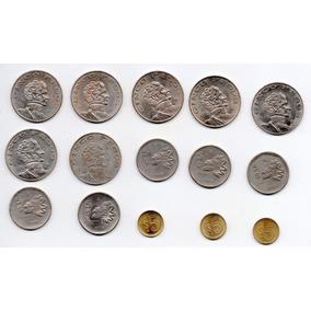Coleccion Monedas Cinco Peso 1971 A 1987 Nuevas A1