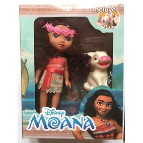 Boneca Moana + Poa Disney Barata