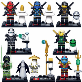 Kit Ninjago Ninjas - 8 Bonecos - Pronta Entrega