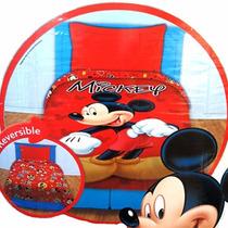 Acolchado Y Sábanas Mickey Mouse 1 Plaza 1/2 Piñata