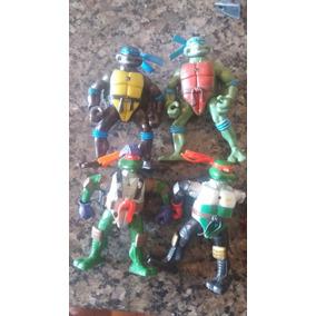 Kit Com 4 Bonecos Tartaruga Ninja C/luzes - Lote 2