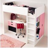 Camarotes C/cama Alta+escritorio+closet+repisero+escalera,