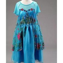 Disfraz Frozen Elsa Talla 3/4/5/6/7/8 Vestido Niña Fever Ann